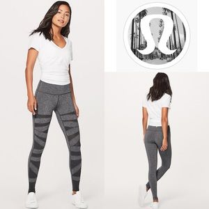 Lululemon Wunder Under Tech Mesh Heathered Black
